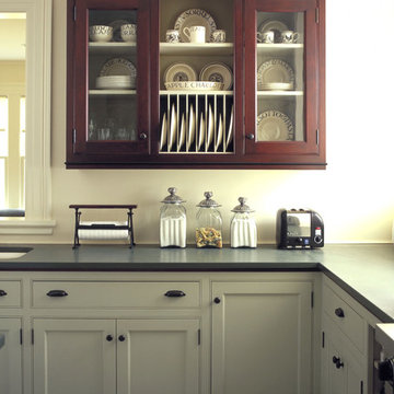 Painted and Wood Kitchen