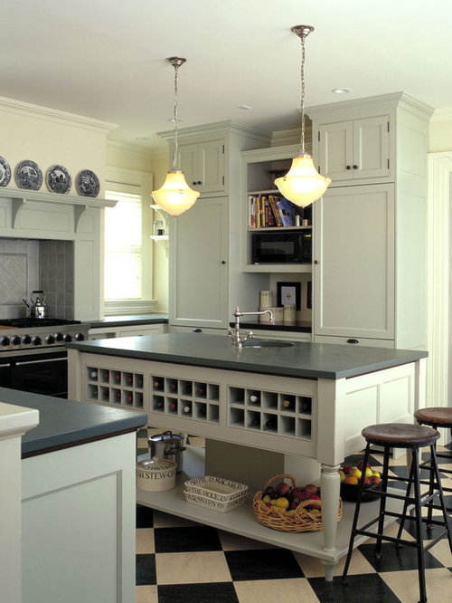 Kitchen Cabinets Wine Rack | Houzz