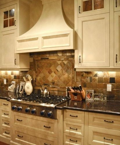 Tumbled Slate Backsplash Ideas, Pictures, Remodel and Decor