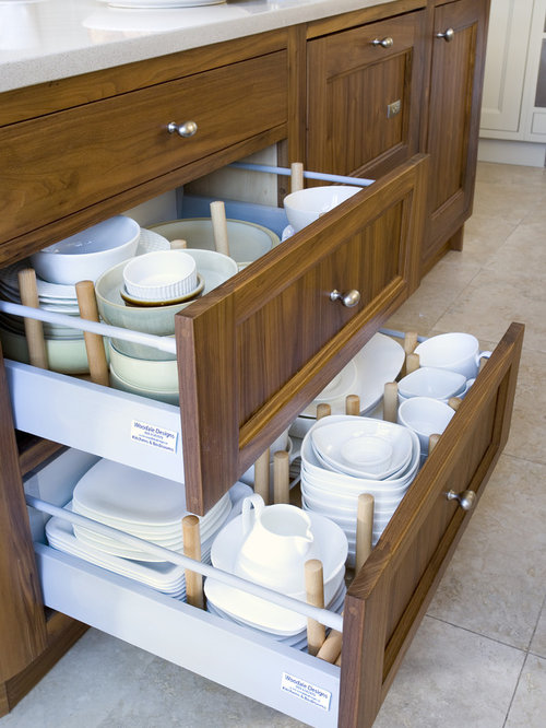 Inspiration for a contemporary kitchen remodel in Dublin & Drawer Plate Holders | Houzz