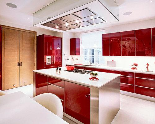 Red Kitchen   Houzz