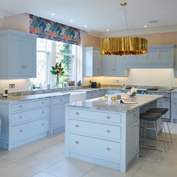 Pale Blue Kitchen with Modern Decor by The Secret Drawer