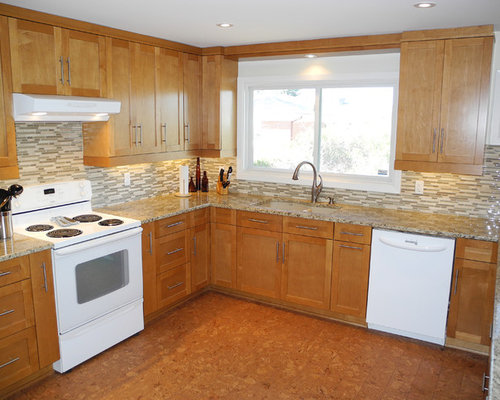 Kitchen Design Ideas Renovations Photos With Louvered Cabinets And Cork Flooring
