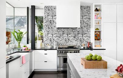 10 crédences à motifs égayent les cuisines