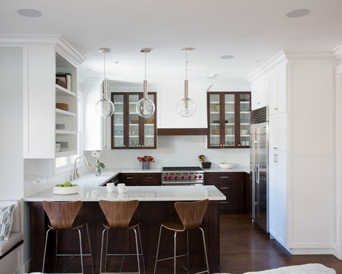 G Shaped Kitchen Houzz