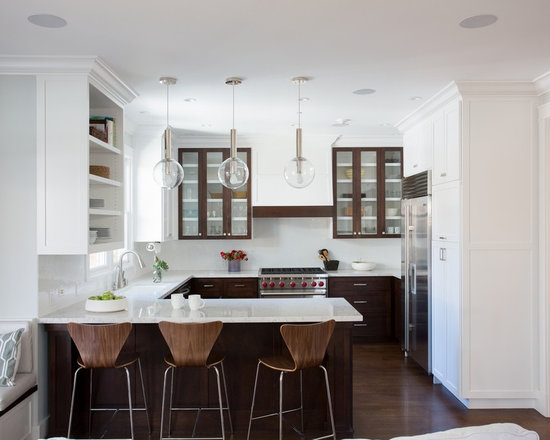 L Shaped Kitchen Layout With Peninsula g shaped kitchen | houzz
