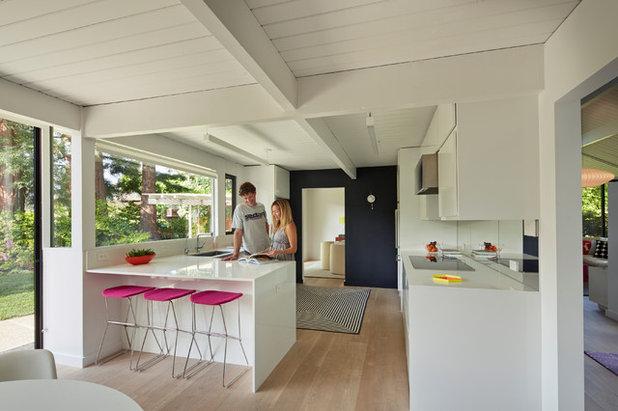 Idées Déco Pour Dynamiser Une Cuisine Blanche - Rideaux pour salon salle a manger pour idees de deco de cuisine