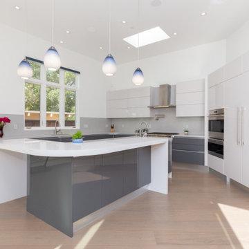 Palo Alto Grey & White Kitchen