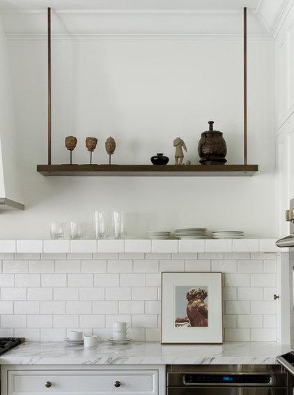 Transitional Kitchen by Kathleen Bost Architecture + Design