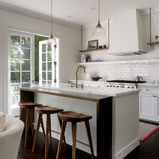 Transitional Kitchen by Kathleen Bost Architecture + Design