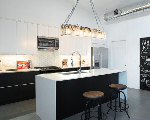White Kitchen Grey Floor gray floor white cabinet ideas | houzz