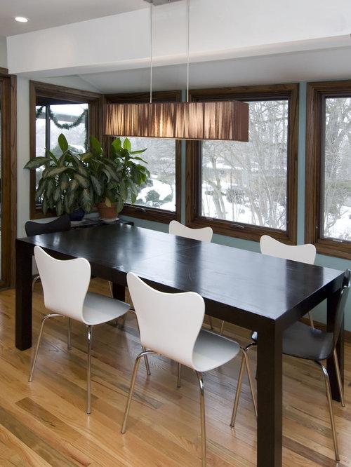 Dark Table Light Chairs | Houzz