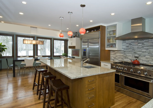 Kitchen Brulee Cabinets White Countertops Light Brown Floor