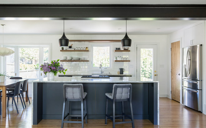Transitional Kitchen by Kate Roos Design LLC
