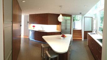 Panoramic view of kitchen