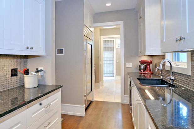 Transitional Kitchen by Bruce Johnson & Associates Interior Design