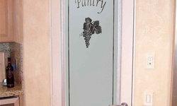 Pantry Doors - Sans Soucie Grape Ivy Glass Pantry Door