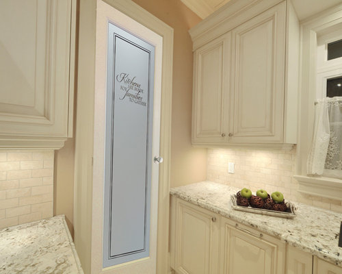 1,294 L-Shaped Kitchen Pantry with Raised-Panel Cabinets Design Ideas