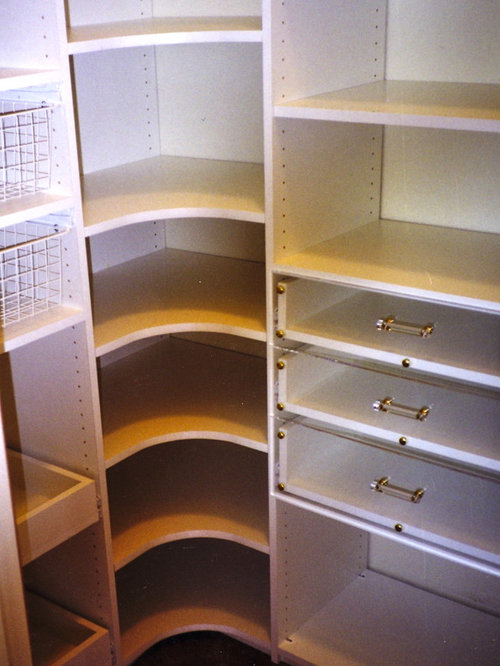Corner Pantry Shelves Houzz