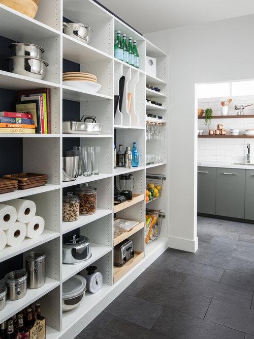 k chen mit marmor arbeitsplatte und schieferboden ideen design bilder houzz. Black Bedroom Furniture Sets. Home Design Ideas