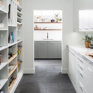 Cucina con pavimento in ardesia - Foto e Idee per Ristrutturare e ...