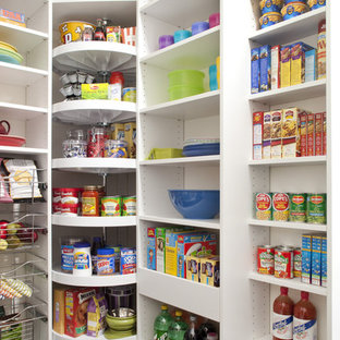 Mid Sized Kitchen Pantry Designs   Inspiration For A Mid Sized Dark Wood  Floor. Save Photo. Pantry With Corner Lazy Susan