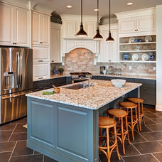 Traditional Kitchen by Brighton Homes Utah