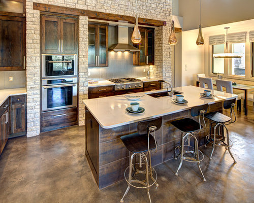 Stained Concrete Floor Home Design Ideas, Pictures, Remodel and Decor