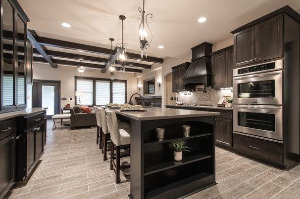 Transitional Kitchen by Titan Homes LLC
