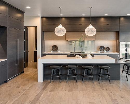 Cucina lineare con top in quarzite - Foto e Idee per Ristrutturare e ...