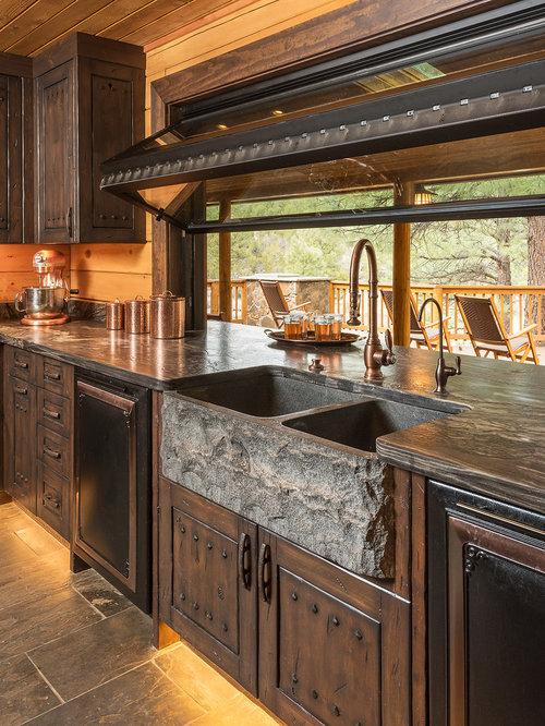 Top 20 Rustic Slate Floor Kitchen Ideas Amp Designs Houzz