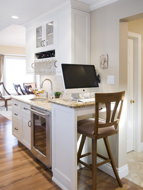 Elegant Kitchen Photo In Toronto With Gl Front Cabinets And Granite Countertops