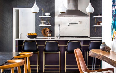 Kitchen of the Week: Black, White and a Splash of Plum