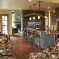 Rustic Kitchen by Utah Design Build LLC
