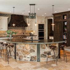 Rustic Kitchen by Designs by Craig Veenker
