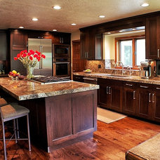 Transitional Kitchen by Accents Studio