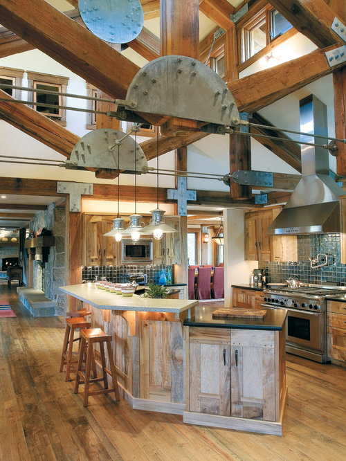 3 000 Rustic Open Concept Kitchen Design Ideas Amp Remodel
