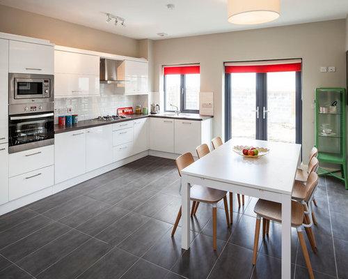 Contemporary Dublin Kitchen Diner Design Ideas Renovations Photos