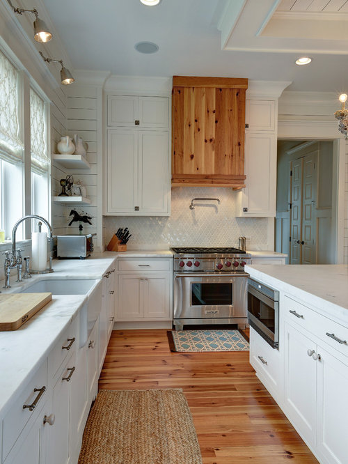 Lovely Elegant L Shaped Kitchen Photo In Charleston With A Farmhouse Sink, Shaker  Cabinets,