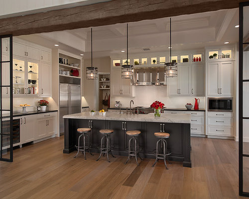 Gray kitchen island home design ideas pictures remodel and decor - Houzz cuisine ...