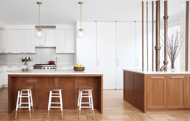 Contemporary Kitchen by Delson or Sherman Architects pc