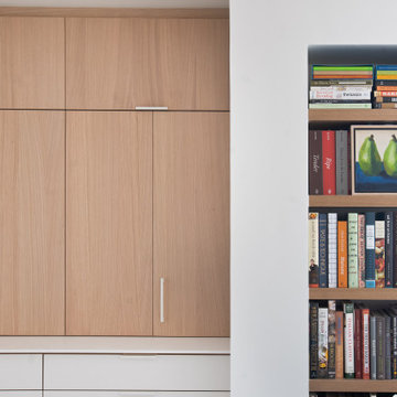 Park Slope Classic 7 renovation Kitchen Hutch and Bookcase