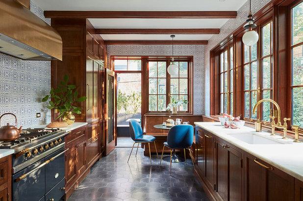 Transitional Kitchen by CWB Architects