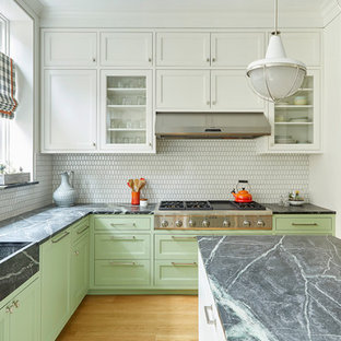 Mid Sized Transitional Eat In Kitchen Designs   Eat In Kitchen   Mid