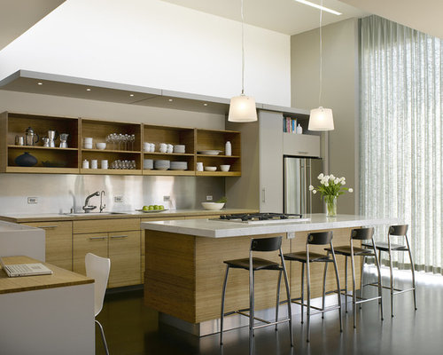 Captivating Trendy Galley Kitchen Photo In San Francisco With Stainless Steel  Appliances, A Drop In