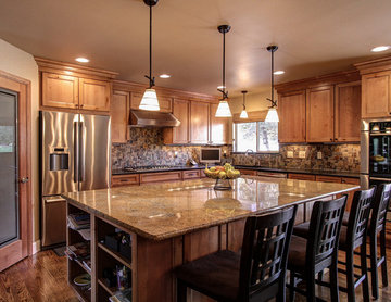 Parker, CO. Kitchen and fireplace remodel