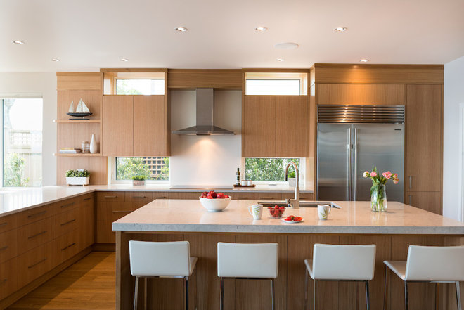 Contemporary Kitchen by Mari Kushino Design