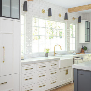 75 Beautiful Single Wall Kitchen With Subway Tile Backsplash Pictures Ideas December 2020 Houzz