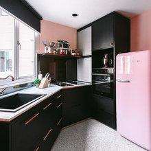 5 Apartment Kitchen Designs Flavoured With Pink