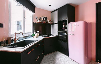 5 Apartment Kitchen Designs Flavoured With Pink
